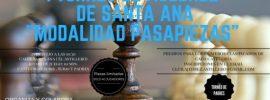 I Torneo de ajedrez de Santa Ana -modalidad pasapiezas