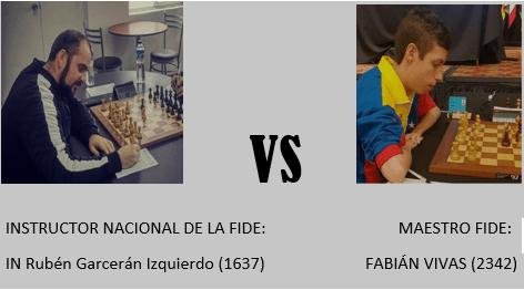 MATCH 1 MATCH: IN Rubén Garcerán(1637) vs FM Fabián Vivas(2342)