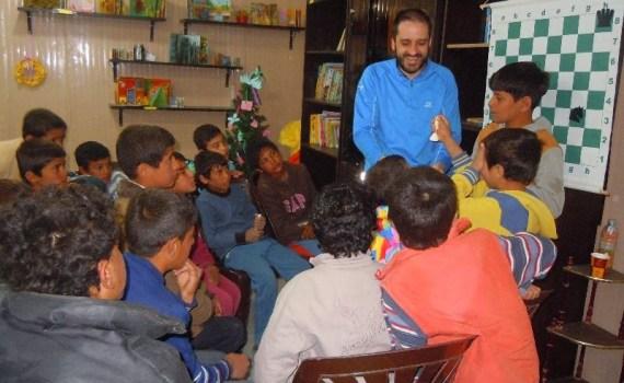 El maestro internacional Pablo García en Azraq