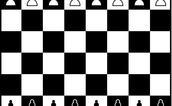 Situación de las piezas en un tablero de ajedrez