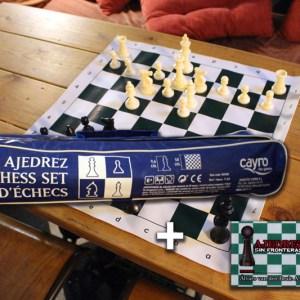 Set de ajedrez más carné de socio de Ajedrez sin Fronteras