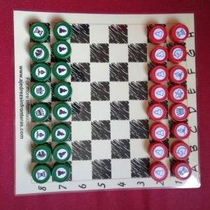 Set de ajedrez hecho a mano