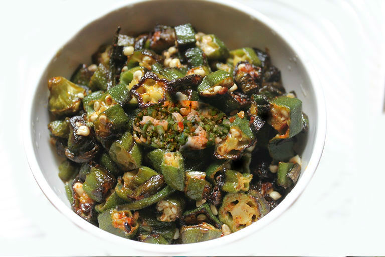 Sauteed Okra with Shrimp