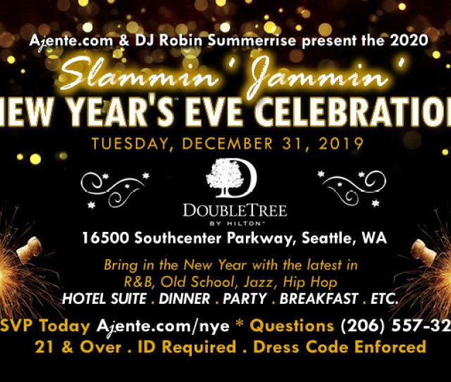 2016 2018 New Years Eve Party Doubletree Hotel Southcenter Wa Seattle