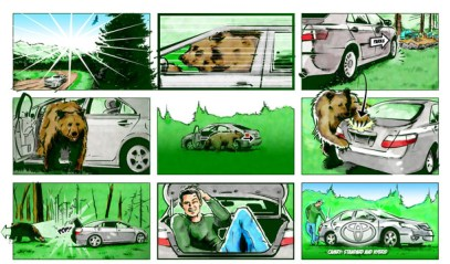 Toyota commercial storyboards