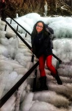 The stairs leading to Seljalandsfoss, this is why you need crampons