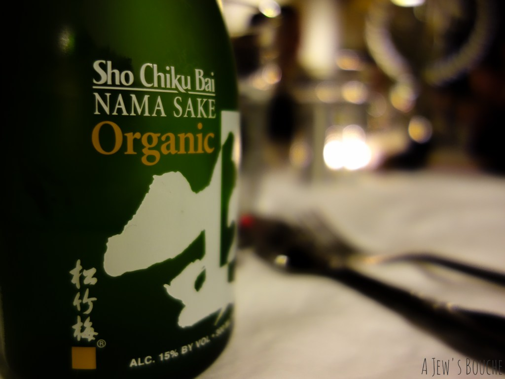 A little sake makes an excellent palate-cleanser between courses.