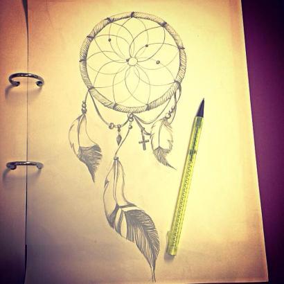 Dreams caught - Pencil study