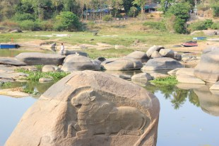 Stone carvings in the Tungabhadra