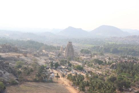 Virupaksha temple from above the hill