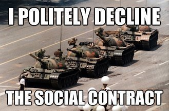 I politely decline the social contract