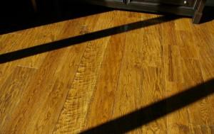Sunlight across a wooden floor