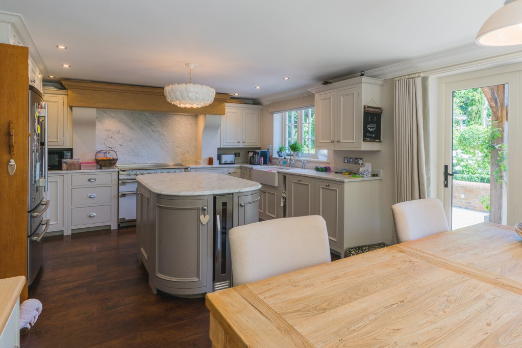 Kitchen renovation and remodelling with an island, in Heathfield East Sussex