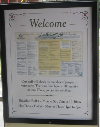 Info posted in Restaurant