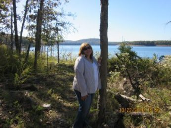 Nearing the end of our trail hike at Bull Shoals