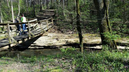 Crossing stream - no lake yet