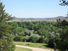 View from hill near Oregon Trail Ruts