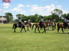 Showing their equestrian drills