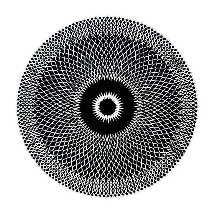 Pen and Ink, Celtic Mandala 3, by Allan J Jones
