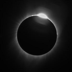 Eclipse Diamond Ring Effect 21August2017, Photo by Allan J Jones