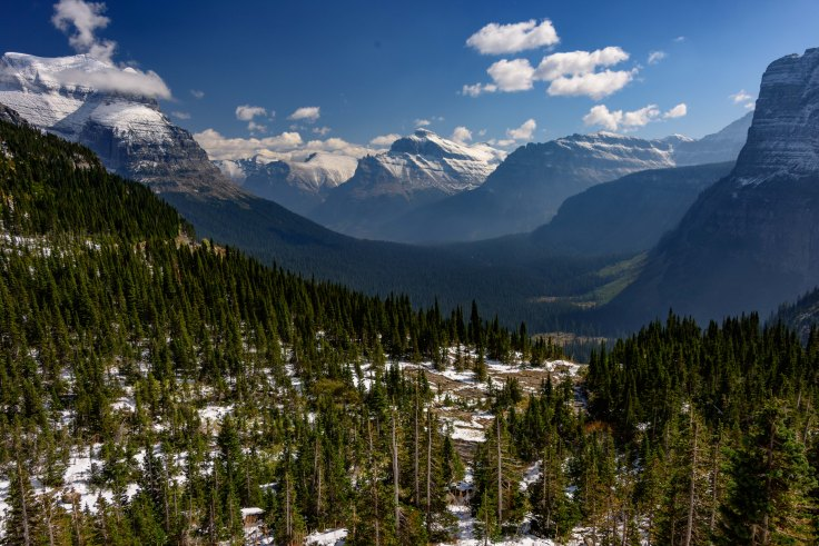 View from Logan Pass, Glacier National Park