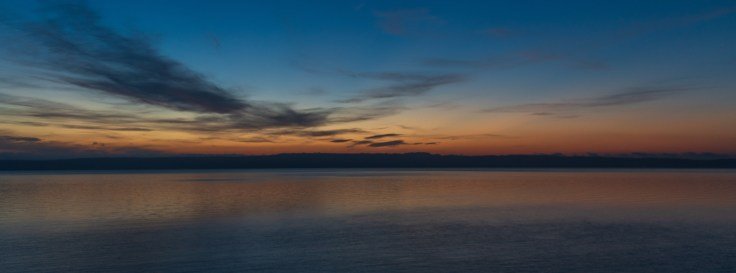 Sunrise over Whidbey Island (6:02 AM) by Allan J Jones