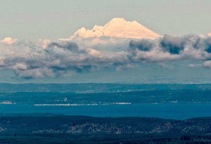 Mt Baker from Mt Walker by Allan J Jones Photography