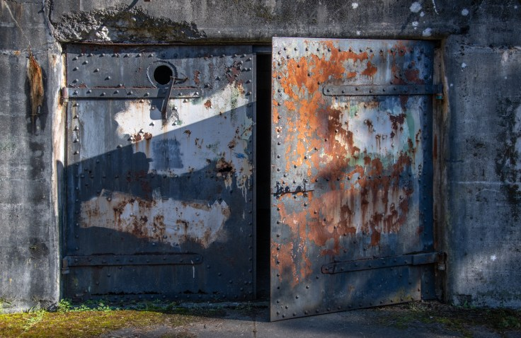 Bunker Door by Allan J Jones Photography