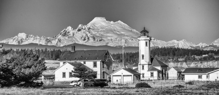 Point Wilson and Mt Baker by Allan J Jones Photography