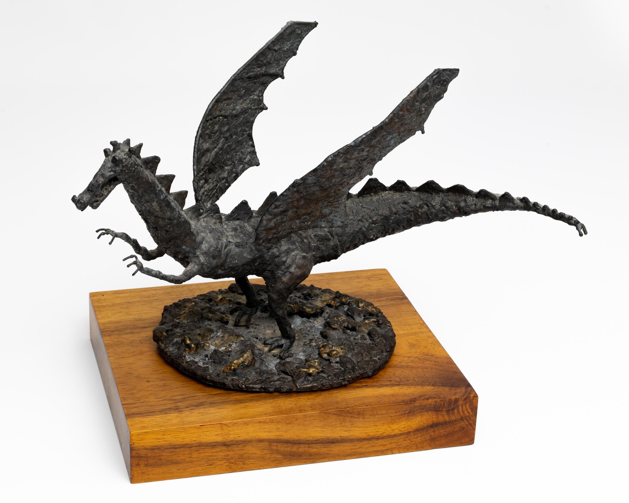 Welded Steel Dragon by Allan J Jones