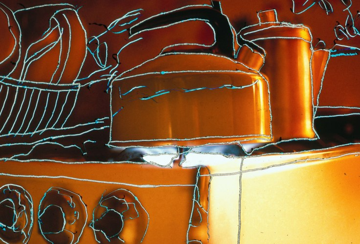 Gas Stove with Emulsion Scratches by Allan J Jones