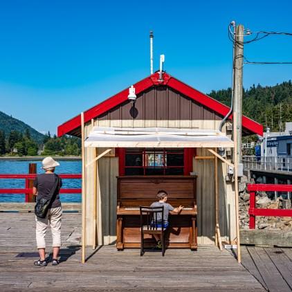 Salt Spring Dock Piano