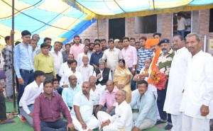 विधायक डॉ. गोपाल जोशी सैनजी महाराज मंदिर की प्राण-प्रतिष्ठा में लिया हिस्सा