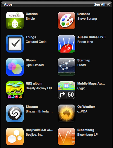 iTunes Turns 1 Apps