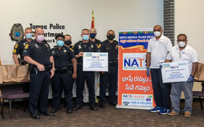 NATS Tampa Bay Provides Meals To Local Police
