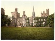 Cardiff Castle, Wales. Courtesy of the Library of Congress, LC-DIG-ppmsc-07388