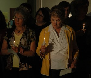 Photo from Planned Parenthood's Candlelight Vigil for Dr. George Tiller on Tuesday night. From KOMU News, via Flickr.