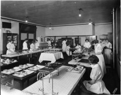 Dietetics class for nurses, 1918/Cornell University Library/via Flickr
