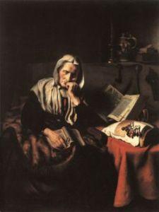 Old Woman Dozing/Nicolas Maes