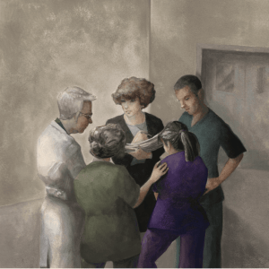 Illustration by Barbara Hranilovich for AJN