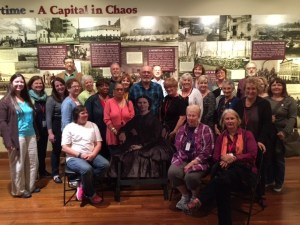Tour group at Clara Barton Office of Missing Soldiers Museum, Washington, DC.