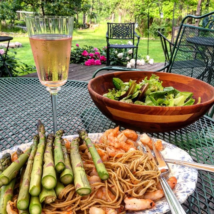shrimp&asparagus on the barbie