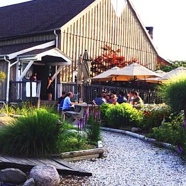 photo of walkway to restored barn winery
