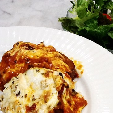 Photo of grilled eggplant Parmesan