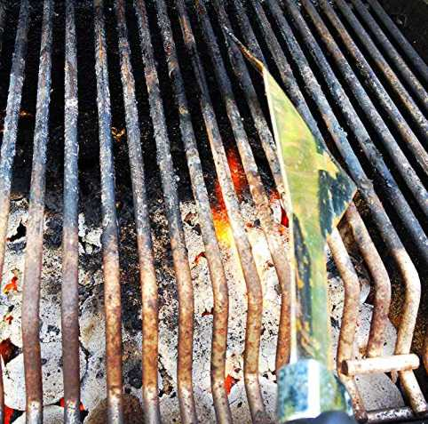 scraping the grill grates