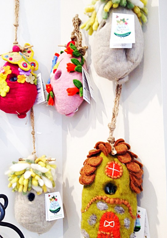 felted wool birdhouses