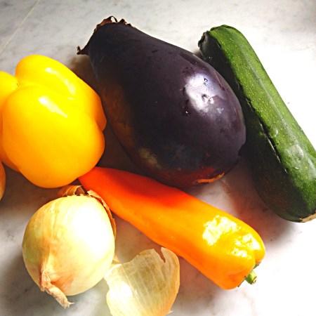 vegetables for ratatouille