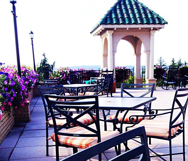 photo of hotel terrace