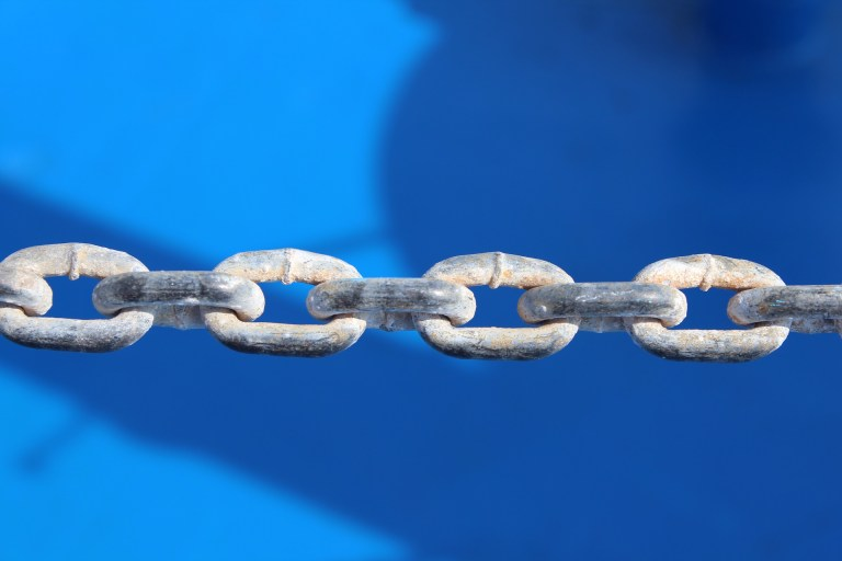 chain showing links
