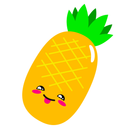 a cartoon drawing of a pineapple